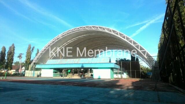 Tenda Membrane Lapangan Tenis Martapura Kalsel