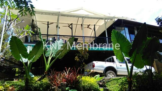 Carport Membrane Vila Hambalang Bogor